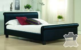Time Living Aurora <b>Real Leather Bed</b> - Mattress Online