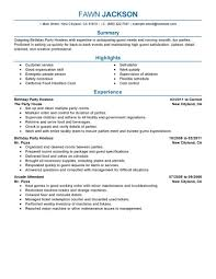 best birthday party host resume example livecareer create my resume