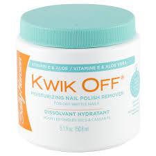 <b>Sally Hansen</b> Kwik Off <b>Moisturizing</b> Nail Polish Remover, 5.1 oz Nail ...
