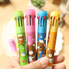 <b>1Pcs</b> Cartoon Ballpoint Pens <b>10 Color</b> Lovely Princess Mickey ...