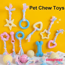 【Shengr】<b>1pcs Pet Dog Toys</b> for Small <b>Dogs</b> Bite Resistant Rubber ...