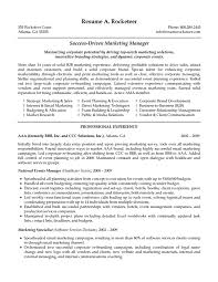 sample resume for marketing manager in cipanewsletter cover letter marketing resume sample branch marketing assistant