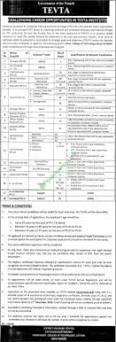 punjab technical education and vocational training authority punjab technical education and vocational training authority ptevta jobs 20th 2016