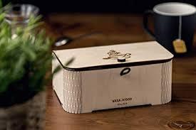 <b>Handmade Tea Box</b> Gift With Engraved Teacup Design With 6 ...