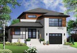 Contemporary style full of surprises   Drummond House Plans BlogAmong the models in Drummond House Plans     contemporary collection  this stunning split level model that has contemporary style full of surprises which