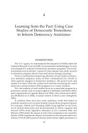 learning from the past using case studies of democratic page 99