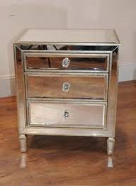single mirrored night stand bedside chest table added drama mirrored bedroom furniture
