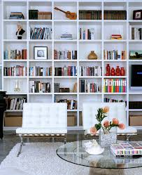 Living Room With Bookcase Startling Barcelona Chair Replica Decorating Ideas For Living Room