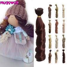 muzi wigs <b>1pieces Extension</b> doll wigs 15*100cm Natural Color ...