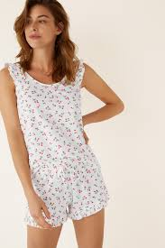 Short <b>cherry</b> print pyjamas | Short pyjamas | <b>Women</b>'<b>secret</b>