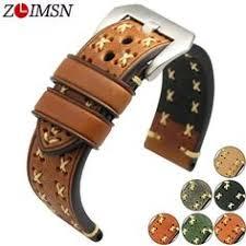 Genuine Leather <b>Watchbands</b> Men Women <b>Soft Smooth Black</b> ...