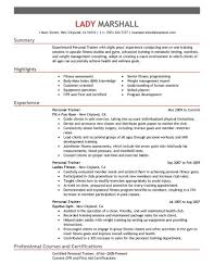 personal trainer resumes examples  personal training resume    personal trainer resume sample trainer resume truwork co