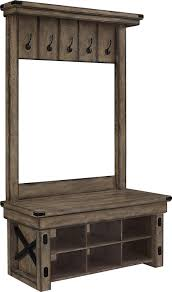 entry storage furniture. amazoncom altra furniture wildwood wood veneer entryway hall tree with storage bench rustic gray kitchen u0026 dining entry