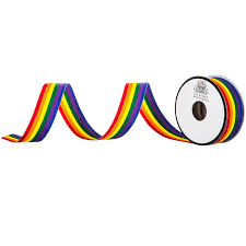 "<b>Rainbow</b> Striped Grosgrain <b>Ribbon</b> - 7/8""   Hobby Lobby   556985"