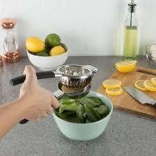 <b>Lemon Squeezer Citrus Juicer</b>- Manual Stainless-Steel Hand-Held ...