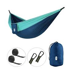 gray blue 210t nylon hammock 300 200cm