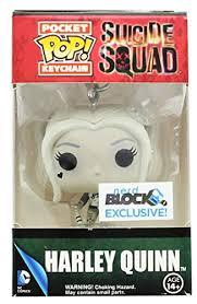 Suicide Squad Pocket <b>POP</b> Keychain: <b>Harley Quinn</b> (Black & White)