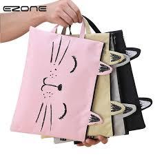 <b>EZONE A4</b> Cat Canvas Bag Fabric <b>File</b> Folder <b>Document</b> Bag ...