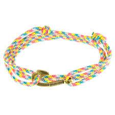 Bracelet Anchor Hook BLK/WHT <b>Leather Rope</b> Bracelet Beach ...