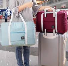 Trolley <b>Travel Bag Foldable</b> WaterProof <b>Nylon Travel Bag</b> Unisex ...