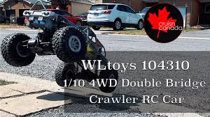 WLtoys <b>104310 1:10 4WD</b> Double Bridge Crawler RC Car | My First ...