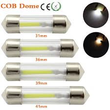 10pcs 31mm 36mm 39mm <b>41mm LED Car</b> Festoon Dome <b>Light</b> 12V ...