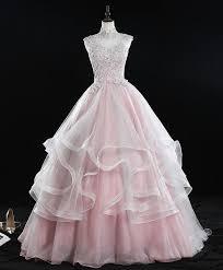 Pink <b>high neck tulle</b> lace <b>long</b> sweet 16 dress <b>tulle</b> lace pink prom dre