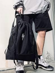 Lightning <b>Graphic Cinch Sack</b> Backpack BLACK #Ad , #Affiliate ...