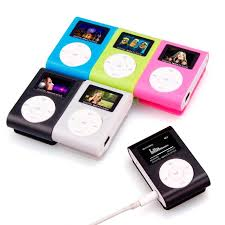 USB Mini Metal MP3 Player LCD Screen Support 8GB <b>Micro SD TF</b> ...