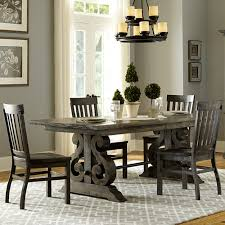 wood rectangular dining table distressed