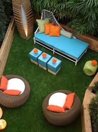 small patio furniture ideas outdoor chair cushions colorful pillows balcony furniture miami