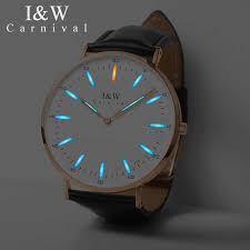 <b>Carnival</b> T25 Tritium Luminous Quartz <b>Watch Men</b> Uitra Thin ...