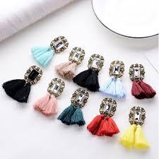 tassel earrings women bohemian feather boucle doreille femme 2019 oorbellen dangle qw 18
