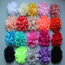"""120pcs/lot 4"""" 20Colors POP Hollow Out Blossom Eyelet Hair ..."""