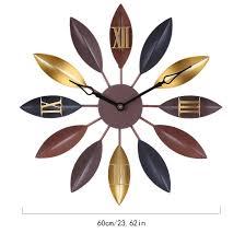 MAJOZ Large Wall Clock,60CM <b>Creative</b> Lea- Buy Online in ...
