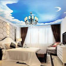 Camera Da Letto Blue Moon : Popular blue sky room wallpaper buy cheap