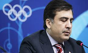 Georgia president Mikheil Saakashvili speaks during a press conference at the Vancouver 2010 Winter Olympics. Illustration: Marcio Sanchez/AP - Mikheil-Saakashvili-001