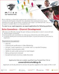 vacancies micro cars pvt s executives channel development