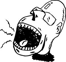 Image result for mulut berteriak