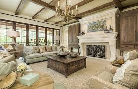 fascinating craftsman living room chairs furniture: beautiful craftsman living room with exposed beams and light color stone fireplace