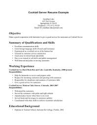 good resume qualifications resume professional summary examples cocktail server resume example summary of qualifications resume summary customer service warehouse resume skills summary