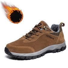 <b>Men's Outdoor Hiking</b> Sneaker <b>Large Size Plus</b> Velvet Warm Non ...