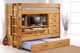 image of girls bunk bed with trundle bunk bed desk trundle