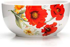 """Суповая чашка <b>Loraine</b> """"<b>Маки</b>"""", цвет: белый, красный, зеленый ..."""