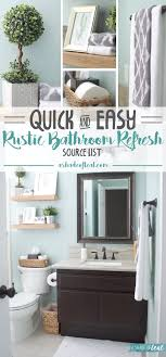 bathroom refresh: i recently updated my downstairs bathroom by giving it a quick and easy refresh you can see all about that here quick amp easy rustic bathroom refresh