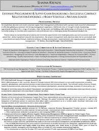 supply chain logistics and procurement resume example