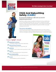 child and babysitting health care training solutions cabs pg 1