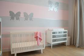 pink butterfly nursery accent wall adorable nursery furniture white accents