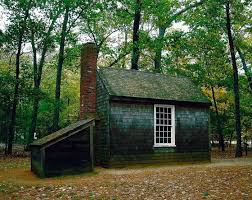 a replica of henry david thoreau s famous tiny house x  this is a replica of henry david thoreau s tiny house next to walden pond this is probably the second most transcendentalist place because thoreau was the