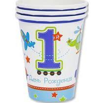 <b>Набор стаканов</b> Amscan Первый День Рождения Мальчик 270 мл ...